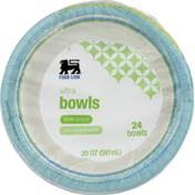 Food Lion Paper Bowls, Ultra, Shrink Wrapped