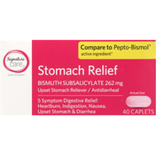 Signature Care Stomach Relief, 262 mg, Caplets