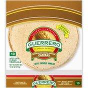Guerrero 100% Whole Wheat Soft Taco Flour Tortillas