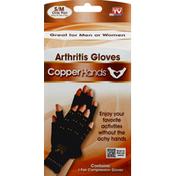 Copper Hands Arthritis Gloves, S/M