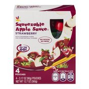 SB Squeezable Apple Sauce Pouches Strawberry - 4 CT
