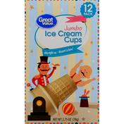 Great Value Ice Cream Cups, Jumbo, 12 Pack
