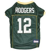 Pets First Large Aaron Rodgers Green Bay Packers Player Pet Jersey