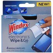 Windex Electronics Wipe & Go Wipes