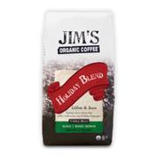 Jim's Organic Coffee Holiday Blend, Medium Roast, Whole Bean Coffee