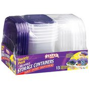 Stater Bros Variety Pack Storage Containers & Lids
