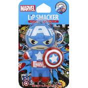 Lip Smacker Lip Balm, Marvel, Captain America Red, White & Blue-Berry