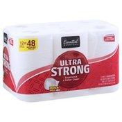 Essential Everyday Bathroom Tissue, Mega Roll, Ultra Strong, 2-Ply