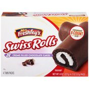 Mrs. Freshley's Swiss Rolls Chocolate Creme Filled Cakes