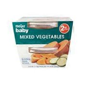 Meijer 2nd Stage Baby Food, Mixed Vegetables