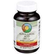 Full Circle Alpha-lipoic Acid 300 Mg Antioxidant Support Dietary Supplement Softgels