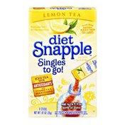 Snapple Diet Snapple Singles To Go! Lemon Tea Low Calorie Tea Drink Mix- 8 CT