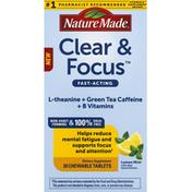 Nature Made Clear & Focus, Lemon Mint, Tablets