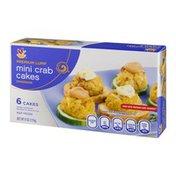 Ahold Handmade Mini Crab Cakes Premium Lump - 6 CT