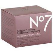 No7 Night Cream, Restore & Renew