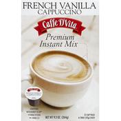 Caffe D'Vita Cappuccino, Premium Instant Mix, French Vanilla, Single Cups, 12 Cup Pack