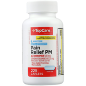 TopCare Extra Strength Pain Relief Pm Acetaminophen 500 Mg Pain Reliever, Diphenhydramine Hcl 25 Mg Nighttime Sleep Aid Caplets
