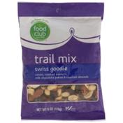 Food Club Swiss Goodie Raisins, Roasted Peanuts, Milk Chocolate Pokies & Roasted Almonds Trail Mix