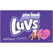Luvs Pro Level Leak Protection Diapers Size