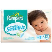Pampers Swaddlers Sensitive Jumbo Pack Size 1 Diapers