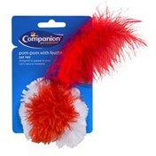 Companion Pom-Pom with Feather Cat Toy
