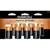 Duracell Battery, Alkaline, 1.5 V, 8 Pack