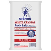 Morton Rock Salt White Crystal Extra Coarse Water Softening Salt