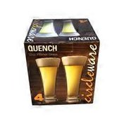 12-Ounce Clear Pilsner Glasses