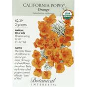 Botanical Interests Seeds, California Poppy, Orange