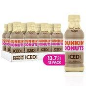 Dunkin' French Vanilla Iced Coffee Bottles