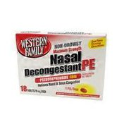 Western Family Non-Drowsy Extra Strength Nasal Decongestant PE 10mg