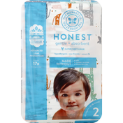 The Honest Company Diapers, Size 2 (12-18 Pounds), Multicolored Giraffes