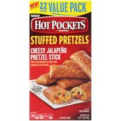 Hot Pockets Stuffed Pretzels Cheesy Jalapeno Pretzel Sticks