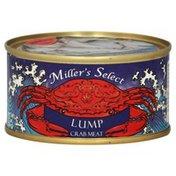 Millers Select Crab Meat, Lump
