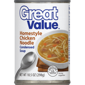 Great Value Condensed Soup, Homestyle Chicken Noodle