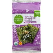 Simple Truth Organic Seaweed Snack, Sweet & Salty, Roasted