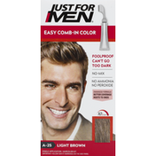 Just For Men Easy Comb-In Color, Light Brown A-25