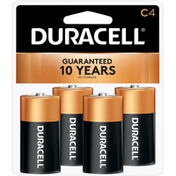 Duracell Batteries, Alkaline, C, 4 Pack