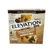 Elevation by Millville Low Sugar High Protein Bars: Chocolate Cookie Dough Bar