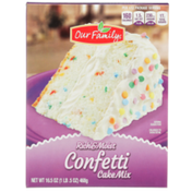 Our Family Rich & Moist Confetti Cake Mix