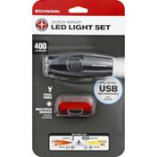 Schwinn Light Set, Quick Wrap, LED