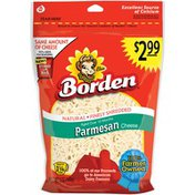 Borden Natural Finely Shredded Parmesan Prepriced Cheese