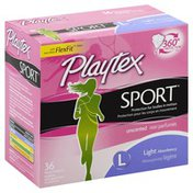 Playtex Tampons, Plastic, Light Absorbency, Unscented
