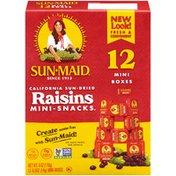 Sun-Maid California Sun-Dried Raisins Mini Snacks
