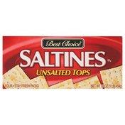 Best Choice Saltines, Unsalted Tops