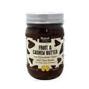Kalot Superfood Fruit & Cashew Butter With Chocolate Chips And Chia Seeds