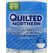 Quilted Northern Ultra Soft And Strong Bath Tissue 24 Double 176CT White