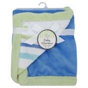 Baby Starters Blanket, Cuddly, Blue Stripe