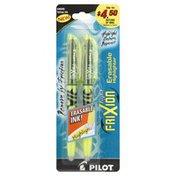 Pilot Highlighters, Erasable, Yellow Ink
