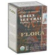 Flora Herbal Tea Blend, Green Tea Chai, Bags